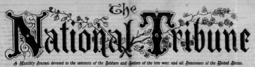 The National Tribune: A Post Civil War Veterans Newspaper