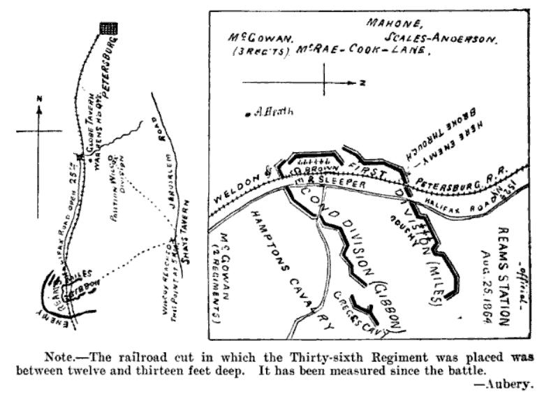 Second Reams Station: August 25, 1864 (36th WI Regt Hist)