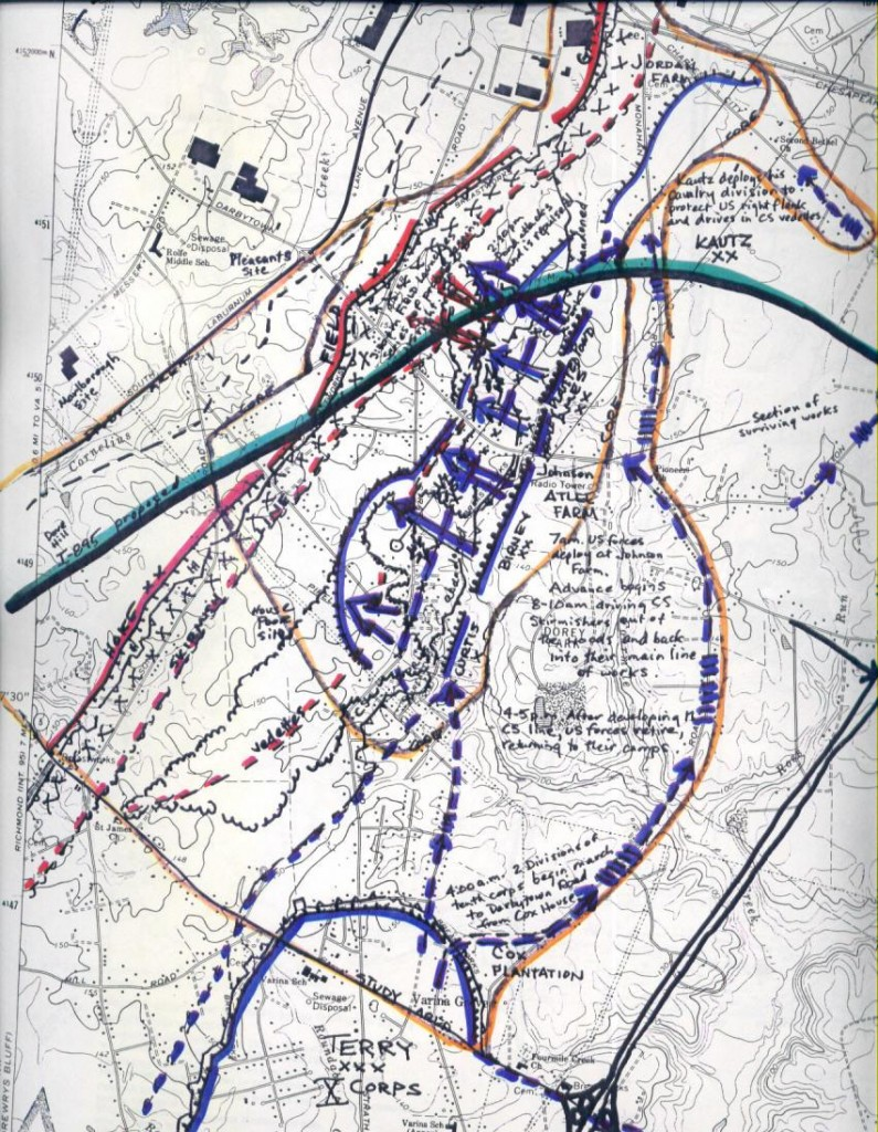 October 13 1864 Darbytown Road map