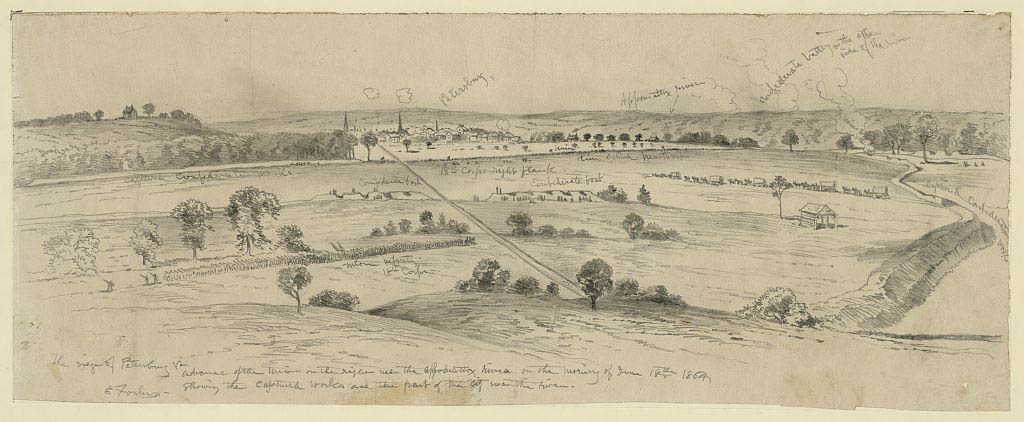 Union attack on Petersburg on June 18, 1864