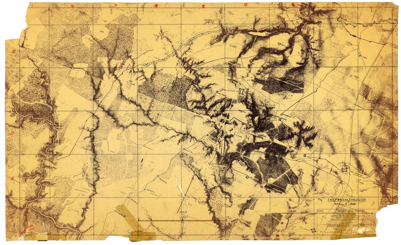 BEARSS Petersburg Maps VI Corps Topo SMALL