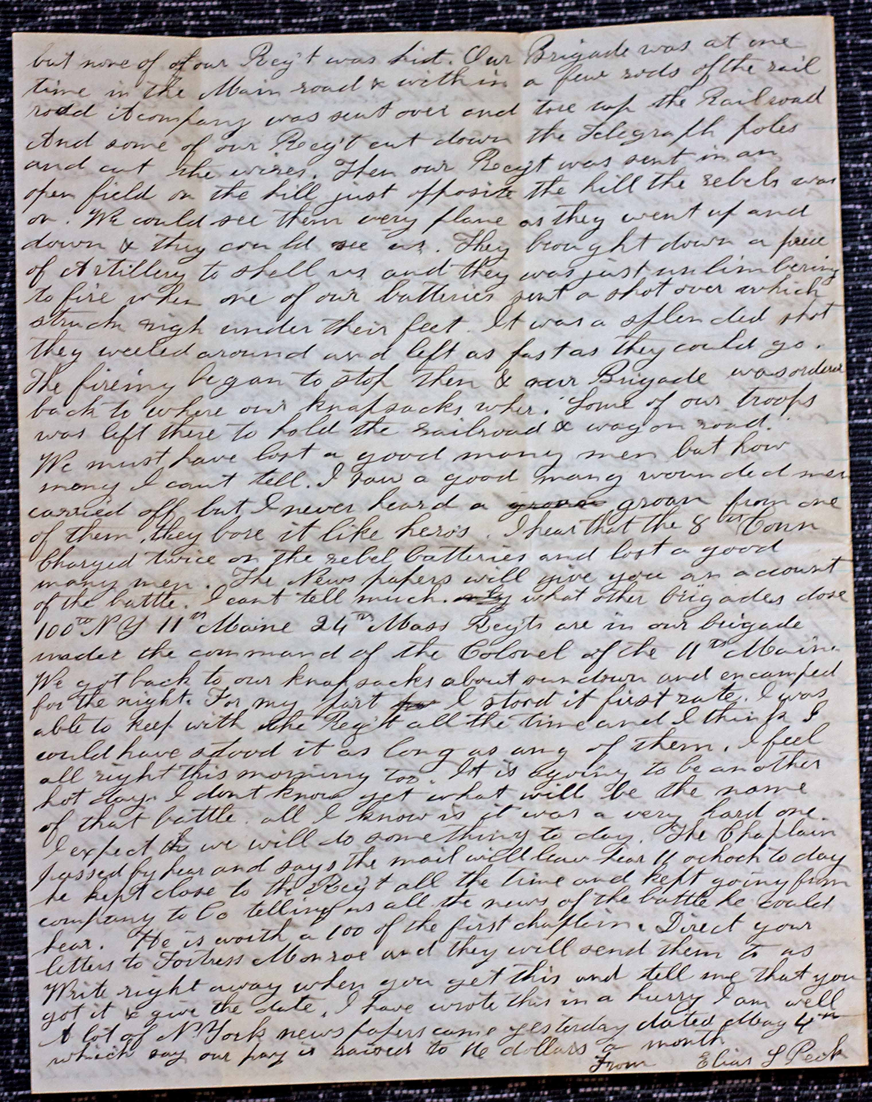 18640507 Elias Peck 10th CT Letter Page 4