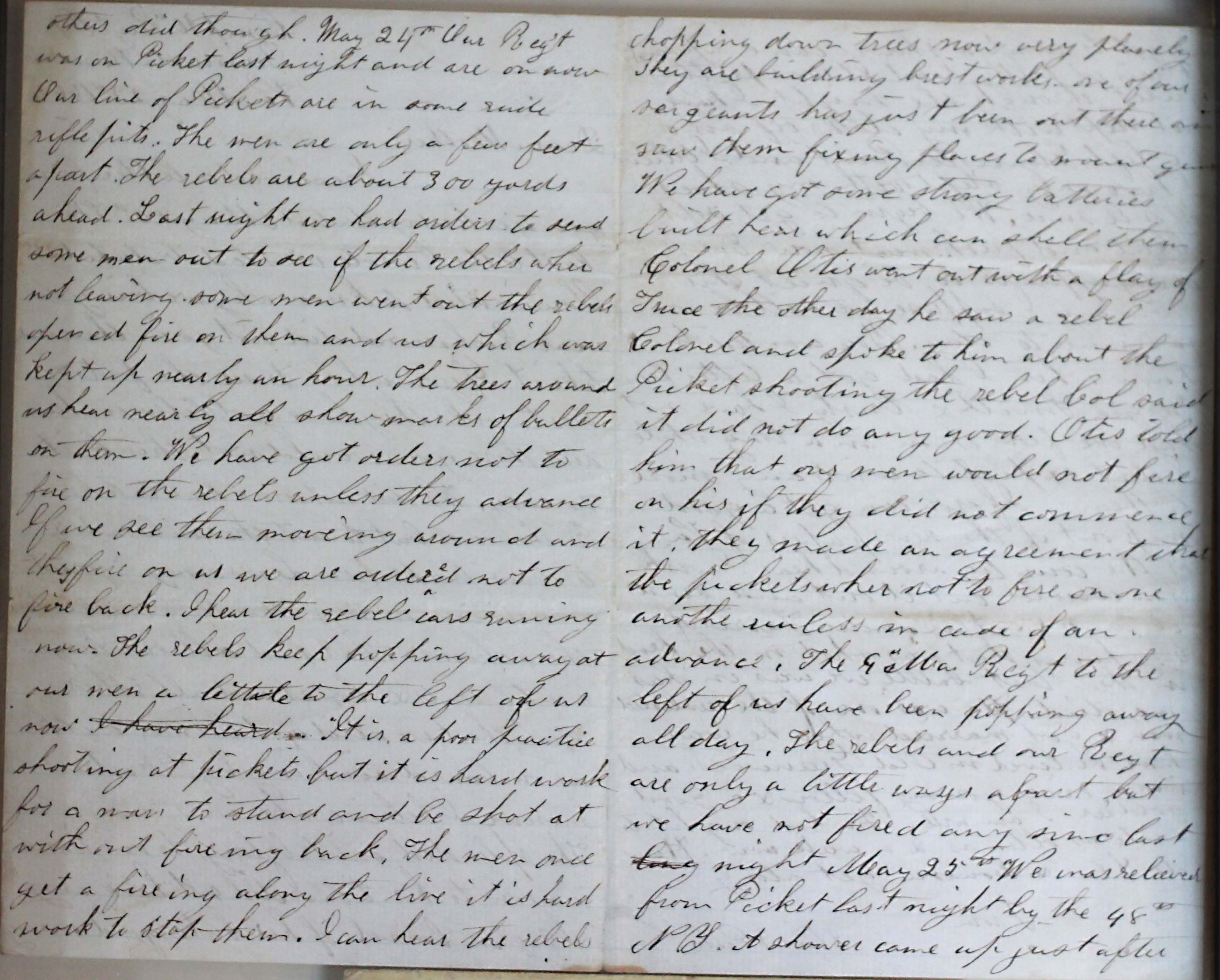18640523 Elias Peck 10th CT Letter Page 2 and 3