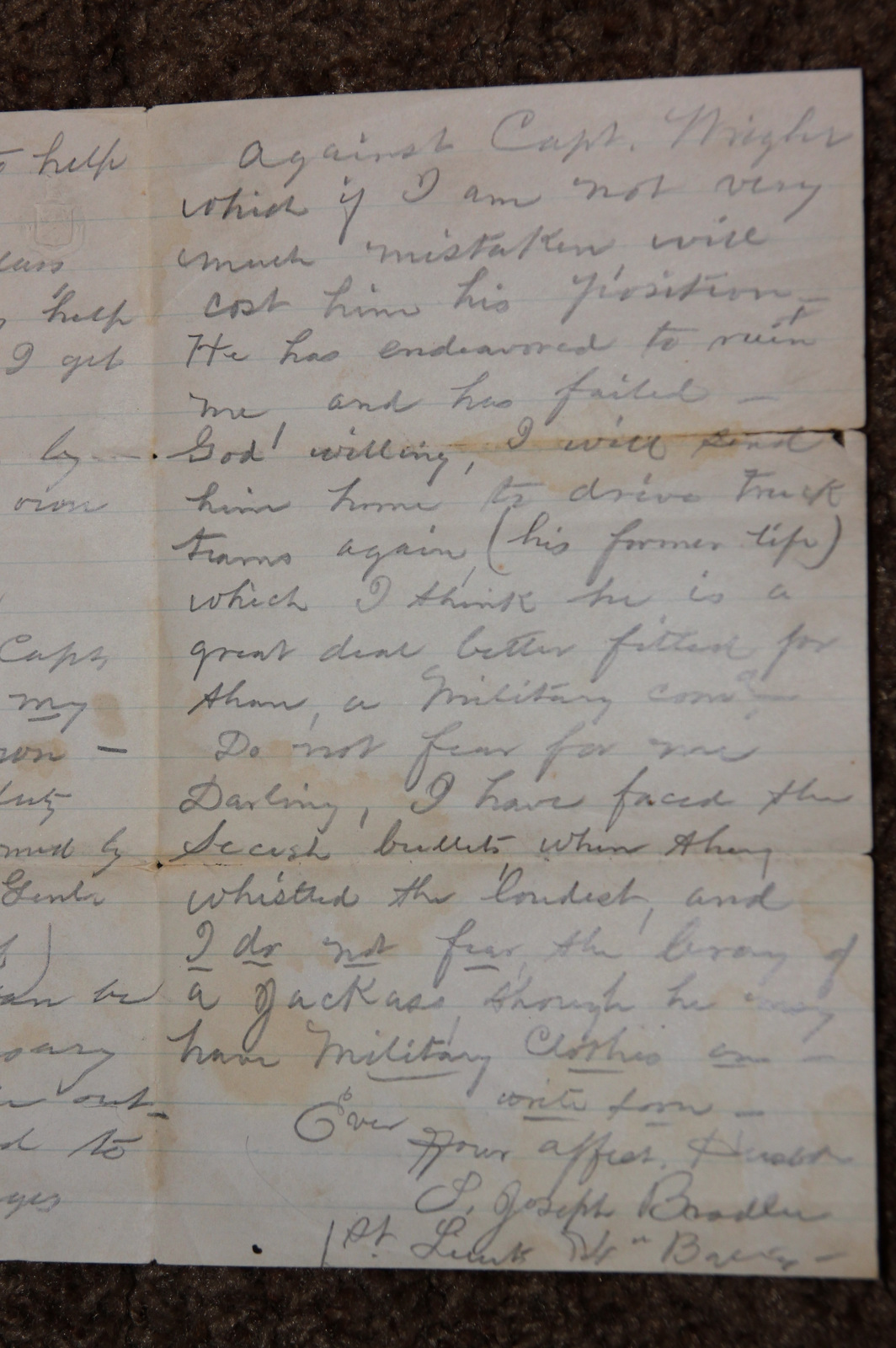 18640627 Samuel J Bradlee Letter 14th Btty MA Lt Arty Page 3