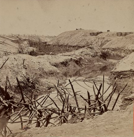 The 35th Massachusetts, operating as acting engineers in the early stages of the Siege of Petersburg, were called upon to help create elaborate fortifications.