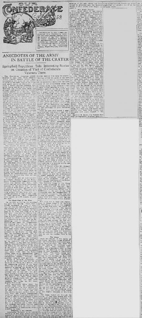 19100724RichmondTimesDispatchSAP3C1to4CraterAnecdotes