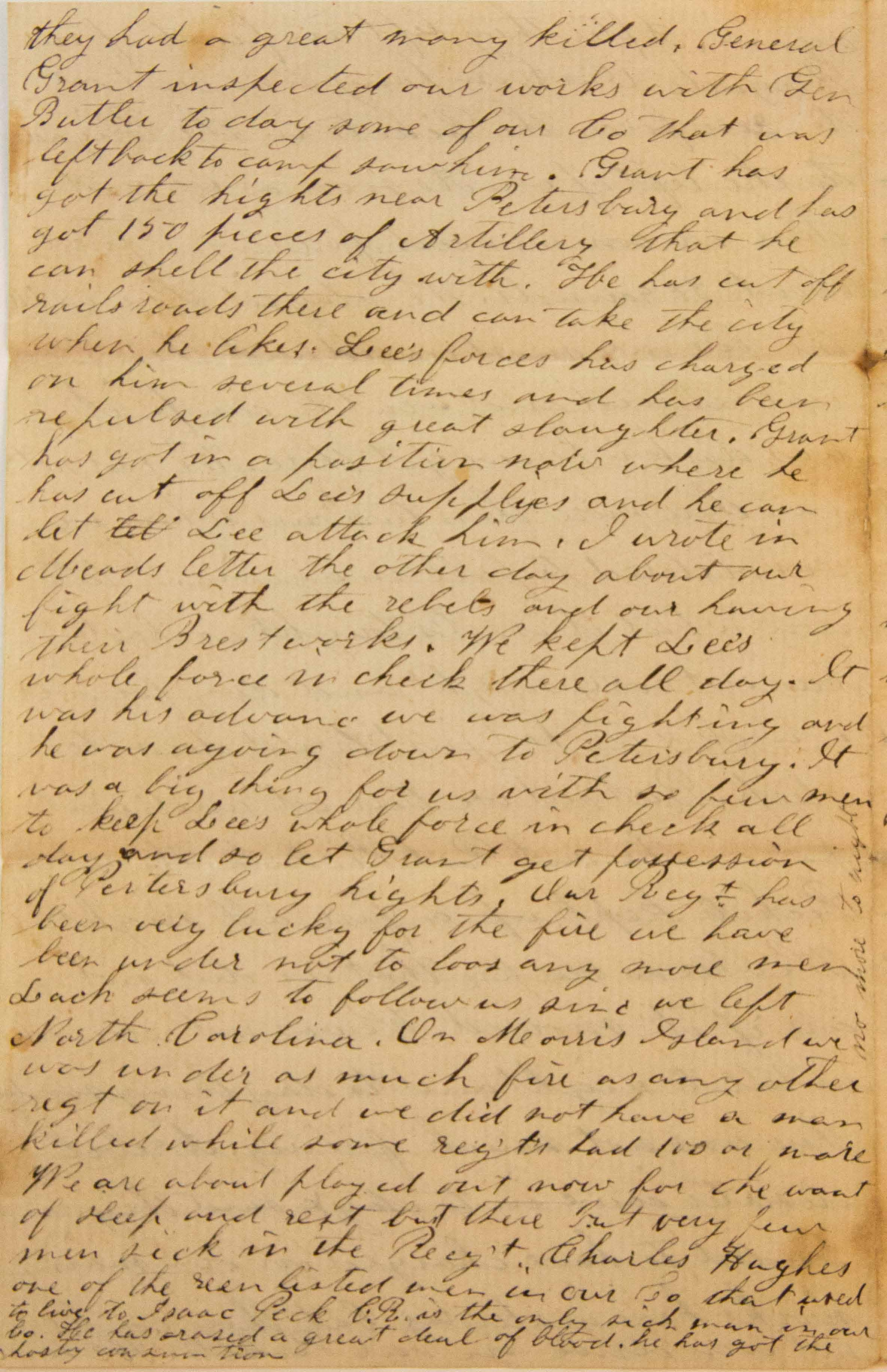 18640619 Elias Peck 10th CT Letter Page 4