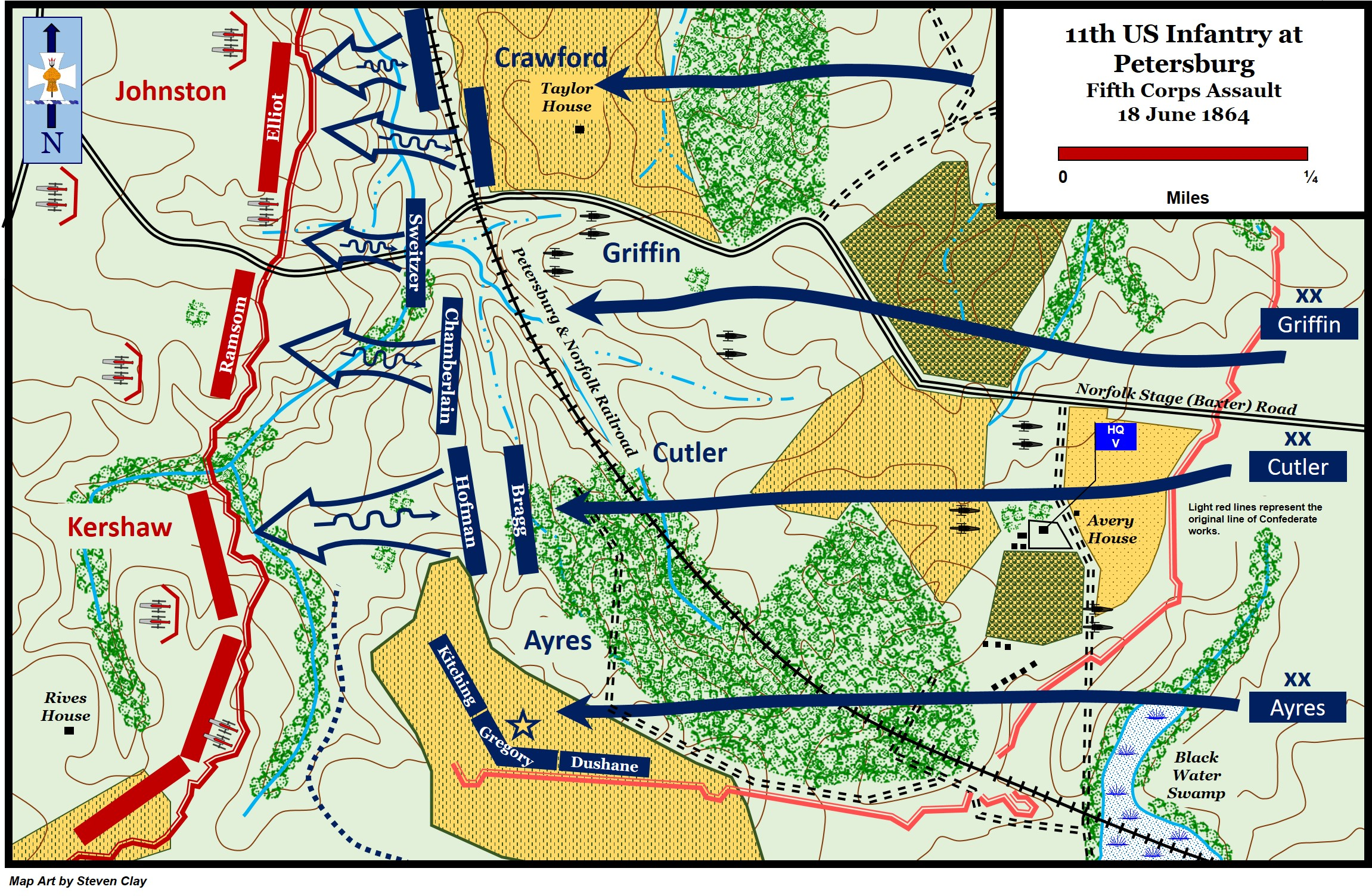 The Second Battle of Petersburg, Fifth Corps Assault: June 18, 1864 (16th Infantry Regiment Association)